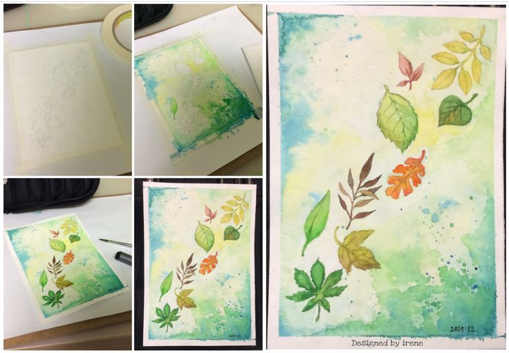 Watercolor-The Leaf❤️