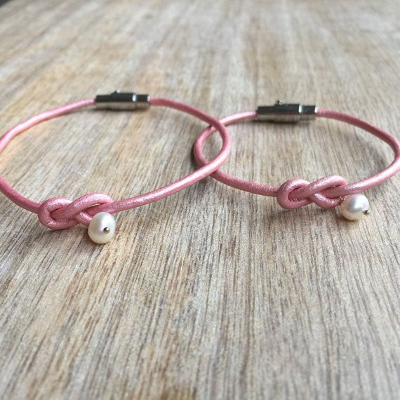 Mommy and Me Bracelets, Mother and Daughter Bracelets, Kids Bracelet, Leather Couple Bracelets, Pearl Leather Bracelets