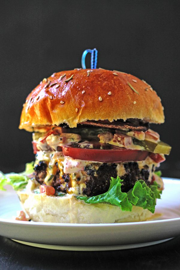 Beef and Pork Burgers with Freakishly Good Homemade Mayo