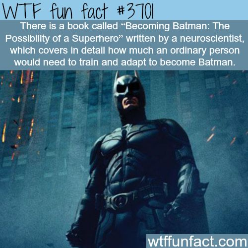 How to become Batman - Where do I get this Book? ...I'm interested in being a Playboy/Billionaire!  ~WTF? weird and fun facts