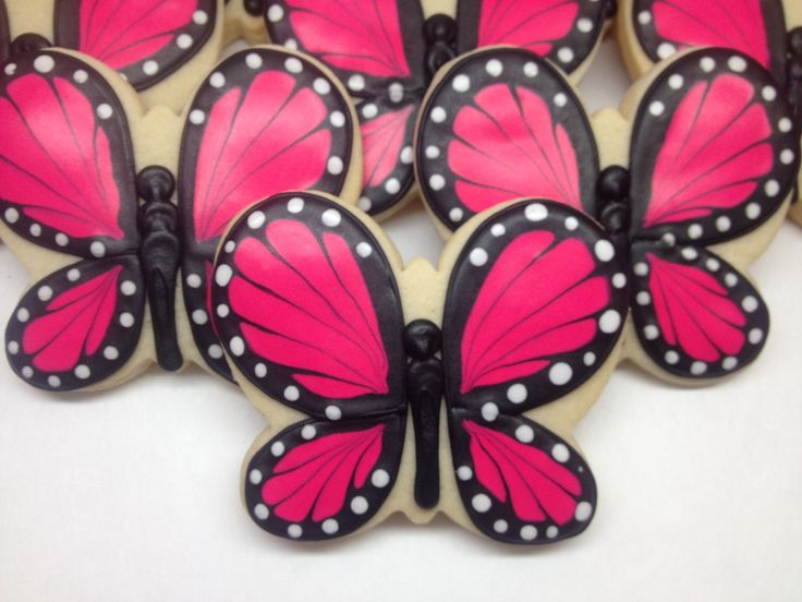 SweetTweets - Pink Butterfly Cookies - 1 Dozen. $36.00, via Etsy.