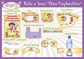 "Festa stampabile a tema ""Dora l'esploratrice"""