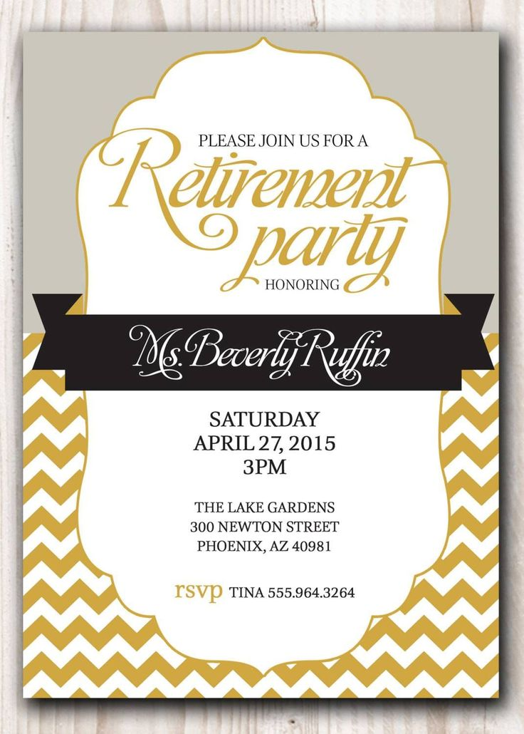 Attractive Retirement Party Invitation Template Microsoft