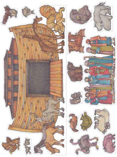 Noah's Ark printable cutouts