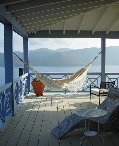 Oh if only I could have 1) THAT view, 2) an amazing wrap around deck and 3) an awesome hammock!!