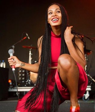 Solange shows solidarity with Black Friday protests in Ferguson.