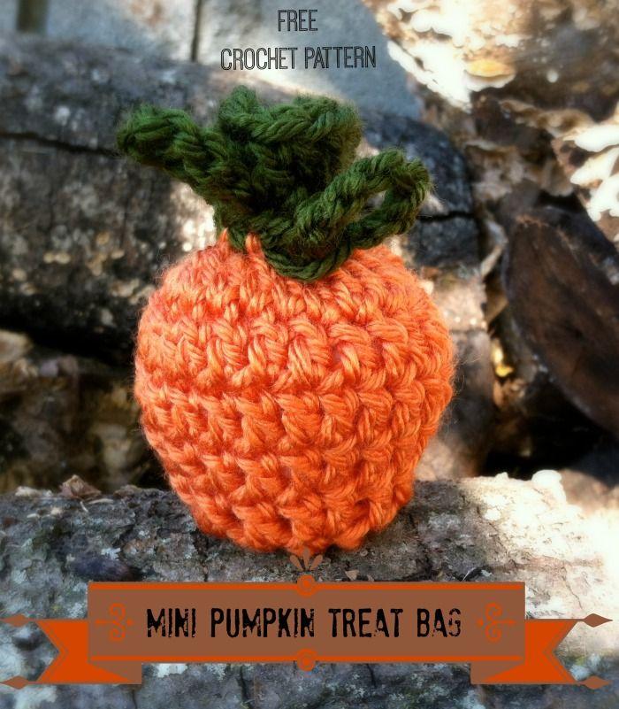Darmowe Wzór Szydełkowy - Mini Pumpkin Treat Bag od projektowania Crochet Amanda Saladyna