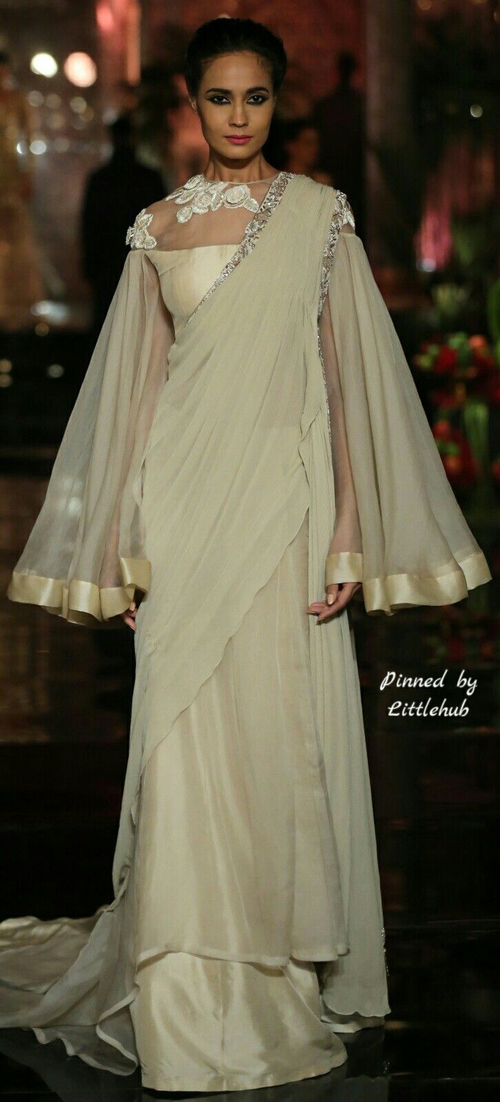 Pinterest @Littlehub || Six yard- The Saree ❤•。*゚_ Manish Malhotra outfit.I know this isn't a saree but wud love this version as a saree