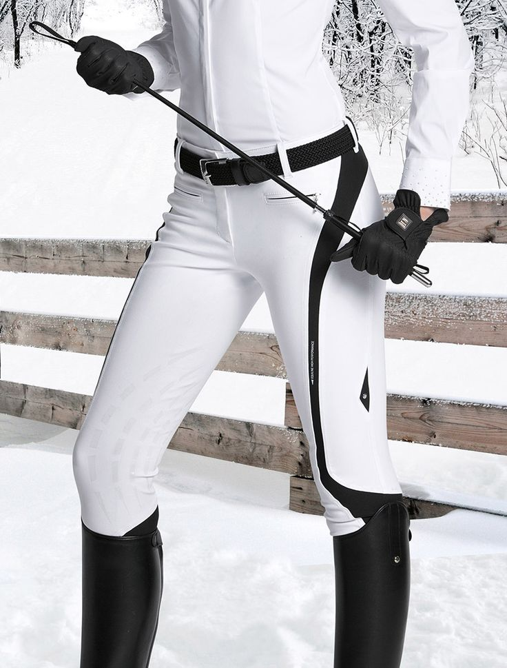 Equiline Show Jumping Breeches in White