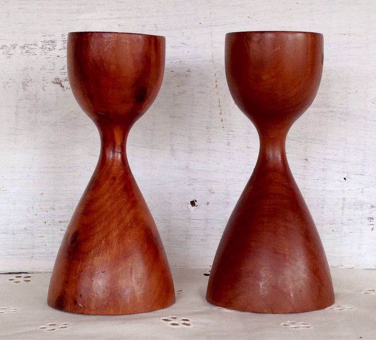 Neat Midcentury pair of fruitwood candleholders from my Etsy shop https://www.etsy.com/listing/553952348/vintage-antique-midcentury-1960s