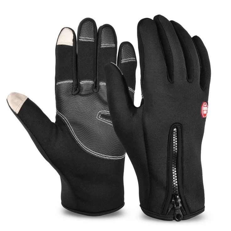 Vbiger Thick Warm Texting Gloves Cold Weather Gloves Cycling Gloves for Men  & Women(Black2,XL)