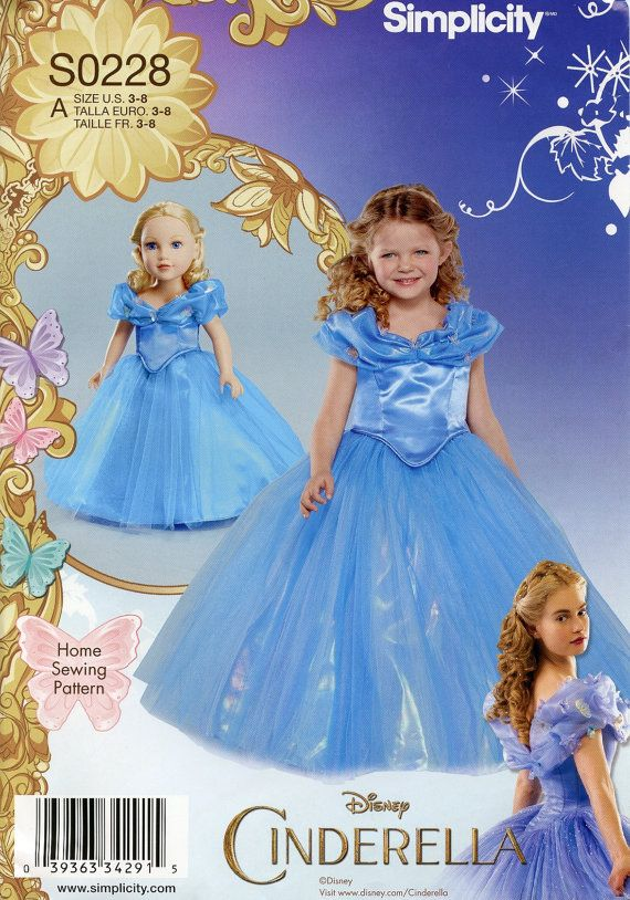 Disney Licensed Cinderella Princess Ball Gown Cosplay