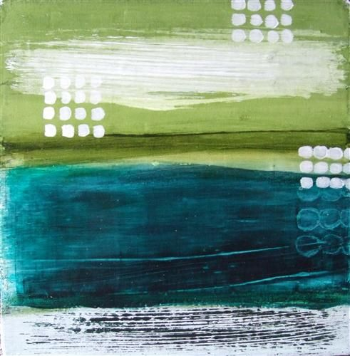 Sandy Cove #1 by Heather McAlpine | acrylic painting | Ugallery Online Art Gallery