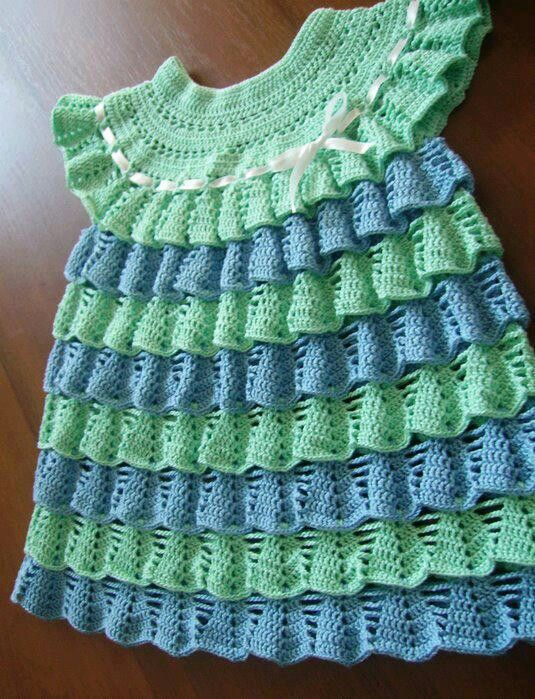 Knitting Patterns Baby Frocks : Crochet frock CROCHE NENEM Pinterest Crochet, In love and Love