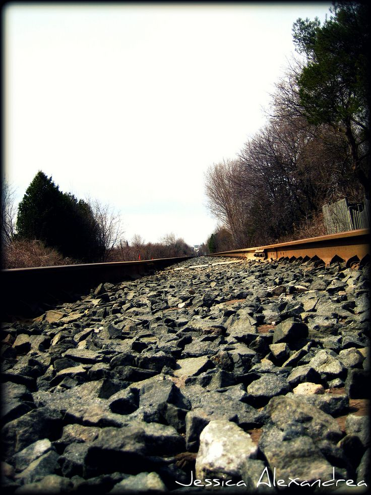 Train Tracks, pretty rocks lol