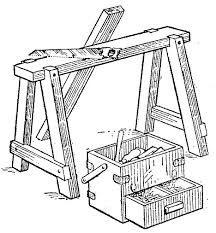 Resultado de imagen de caballete de madera planos
