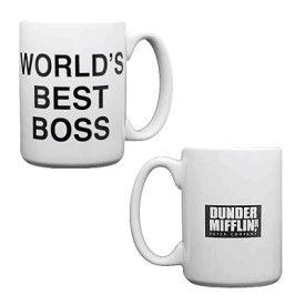 The Office Dunder Mifflin World's Best Boss Coffee Mug