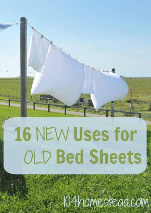 16 Ingenious Uses for Old Bed Sheets - Turn thrift store finds into treasure. | The 104 Homestead