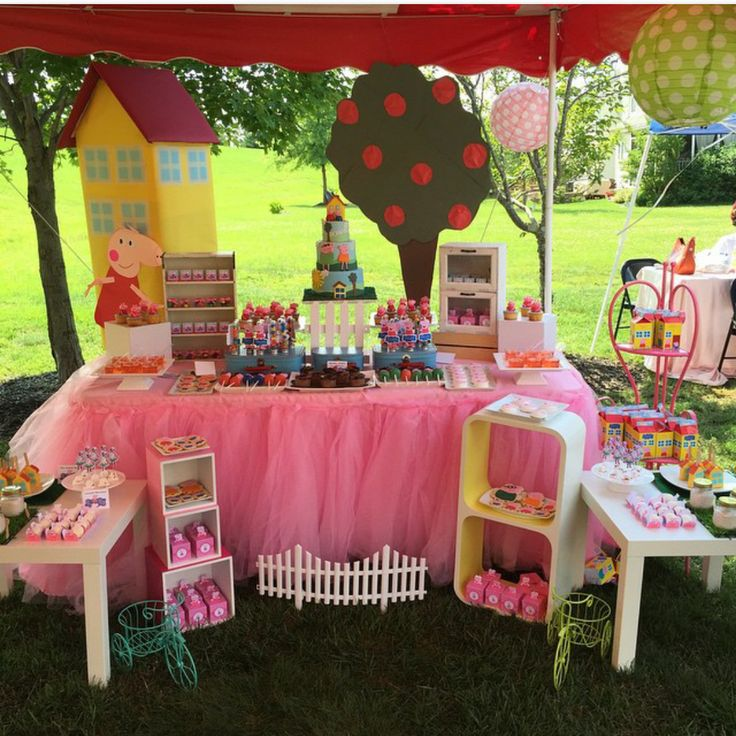 Fun Peppa Pig birthday party! See more party planning ideas at CatchMyParty.com!