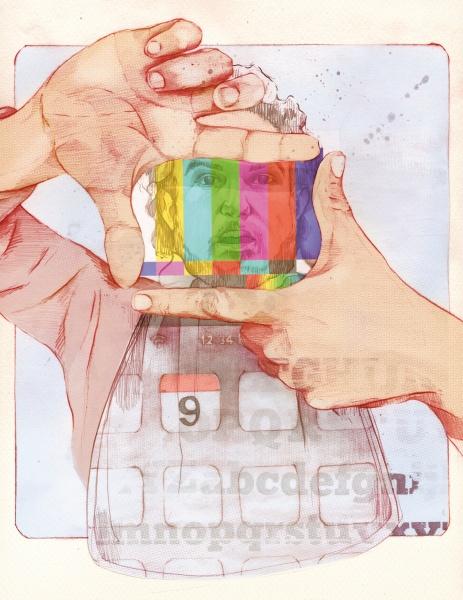 Ilustracion, Articulo revista Shock Febrero