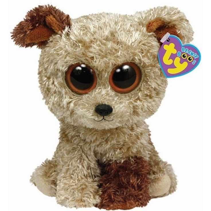 Ty Rootbeer Root Beer the Brown Terrier Dog Animal Beanie Boos Stuffed Plush Toy