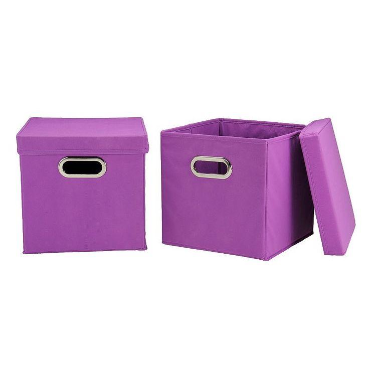 Collapsible Storage Bins, Brt Purple