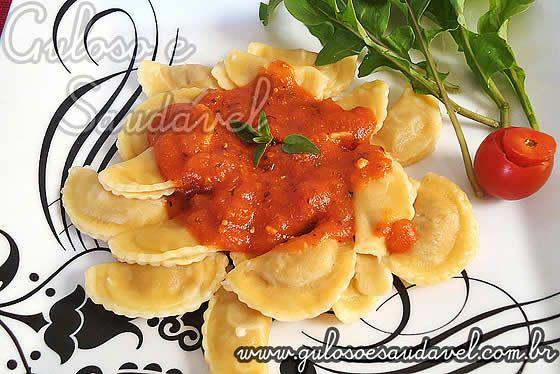 Ravioli de Frango ao Molho de Tomate » Guloso e Saudável