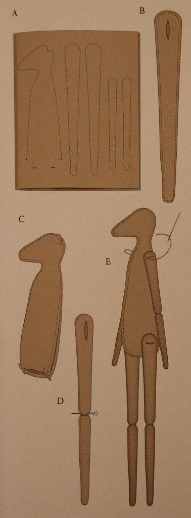 схема шитья оленей