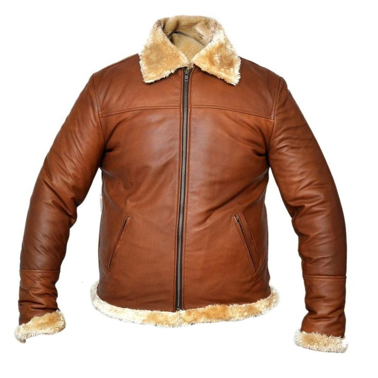 Pin by Hensheleather on Antique Brown Sheepskin Bomber ...