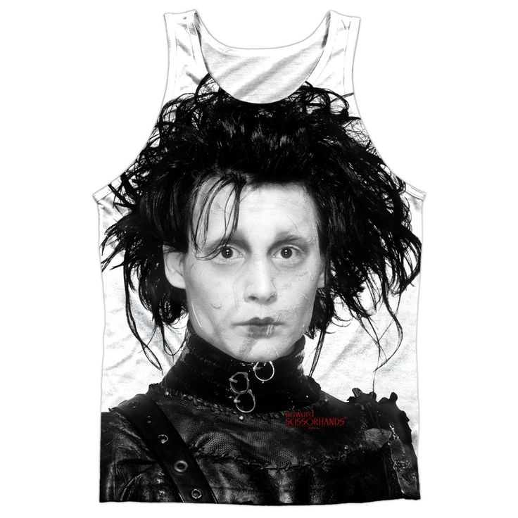 """Checkout our #LicensedGear products FREE SHIPPING + 10% OFF Coupon Code """"Official"""" Edward Scissorhands/heads Up-adult 100% Poly Tank T- Shirt - Edward Scissorhands/heads Up-adult 100% Poly Tank T- Shirt - Price: $24.99. Buy now at https://officiallylicensedgear.com/edward-scissorhands-heads-up-adult-100-poly-tank-t-shirt-licensed"""