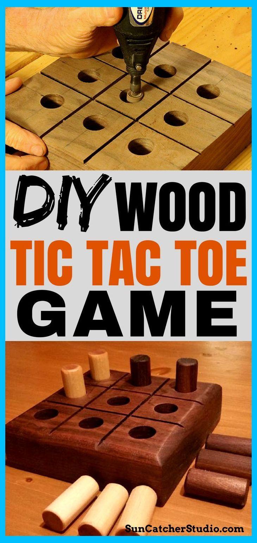 Pläne für die Holzbearbeitung Anfänger >> Wie erstelle ich ein DIY-Tic-Tac-Toe-Spiel (tolle Geschenkidee) | Holzbearbeitu …
