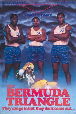 Costacos Bros. - Chicago Bears Linebackers: The Bermuda Triangle (Wilber Marshall, Mike Singletary & Otis Wilson)