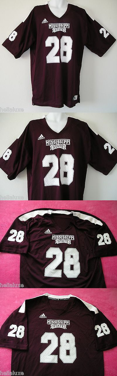 Men 159109: Nw~Adidas Mississippi State University Bulldogs Football #28 Jersey Shirt~Men Xl -> BUY IT NOW ONLY: $49.99 on eBay!