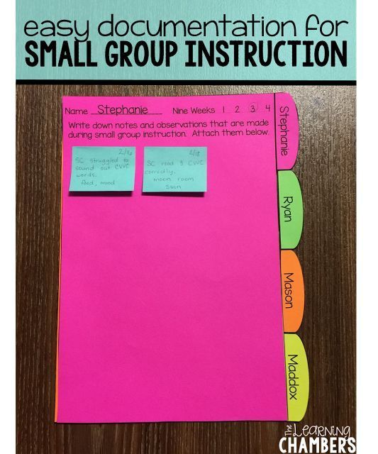 Make the Most of Small Group Instruction with these quick and easy documentation forms.