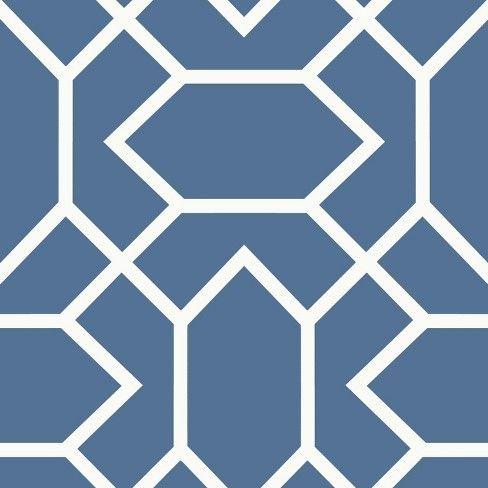 Modern Geometric Peel & Stick Wallpaper Blue RoomMates