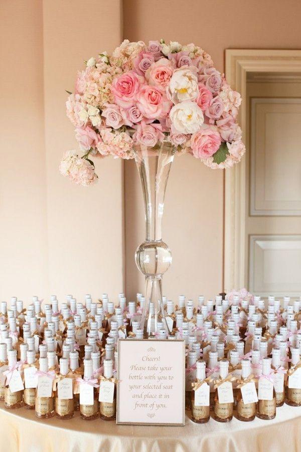 brides of adelaide magazine champagne mini placecard bomboniere
