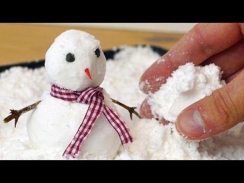 Los Niños De Todas Las Edades Amarán Jugar Con Esta Nieve Falsa De 2 Ingredientes ¡Es Facilísimas De Preparar!   Puras Manualidades