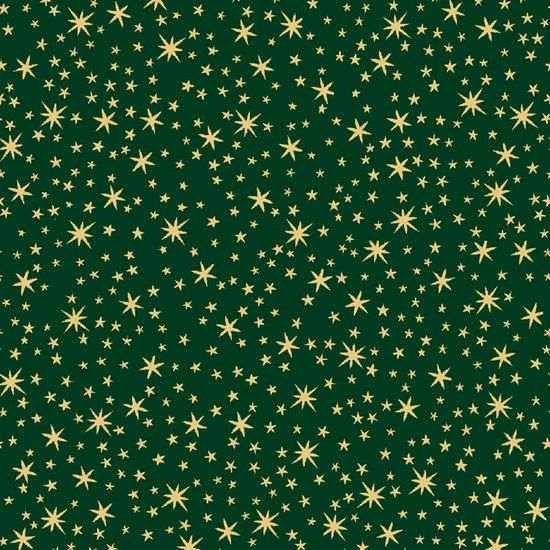 Holiday Metal Fabric Gold Stars on Forest Green from Quilting Treasures 23544 F Metallic Fabric Christmas Fabric