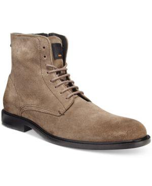 Hugo Boss Orange Men's Cutro Zip Boots - Tan/Beige 13