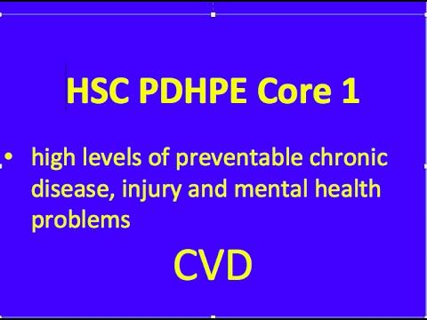 HSC PDHPE Core 1 - CVD - YouTube