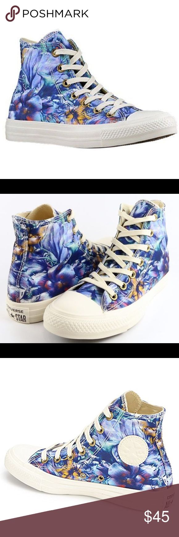 ☕️1 HOUR ONLY SALE! CONVERSE WOMENS FLORAL HI TOPS Brand new without box Converse Shoes Sneakers