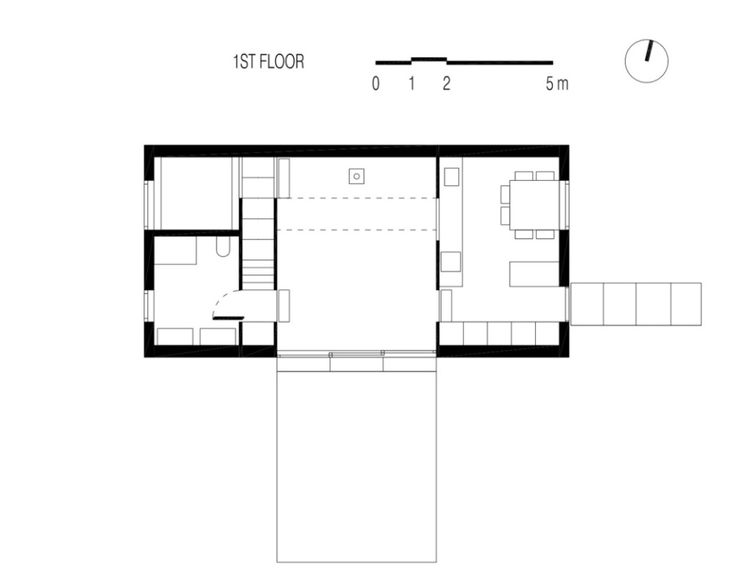 floor plan of House G, a small house by Lode Architecture