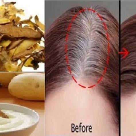 Heb je last van grijze haren? Op DEZE manier kunnen aardappelschillen dit verhelpen!