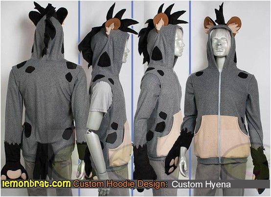 how to make a hyena costume