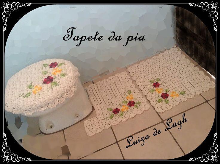 Jogo de Banheiro Crochê - Tapete da pia #LuizadeLugh