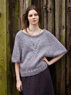 : Пуловер из толстой пряжи (вязание спицами)