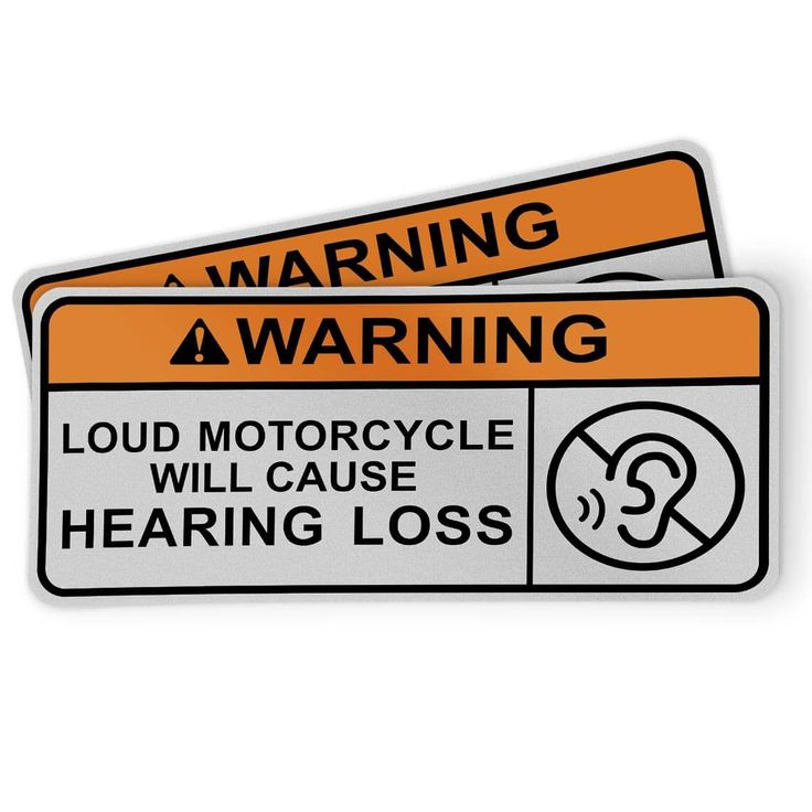 Motorcycle Sticker Loud Motorcycle 2 Pack Motorcycle Stickers Rider Quotes Jdm Stickers