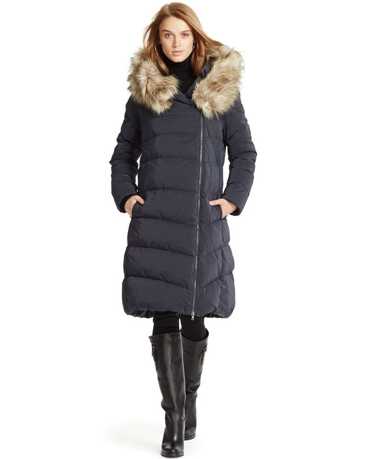 polo ralph lauren faux fur hood down puffer coat products pinterest ralph lauren shops. Black Bedroom Furniture Sets. Home Design Ideas