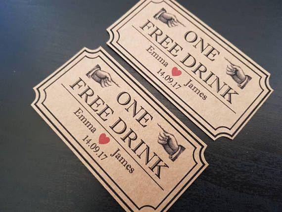 Free drink tickets- ideal wedding favours https://www.etsy.com/uk/listing/523016216/free-drinks-token-wedding-drinks-token