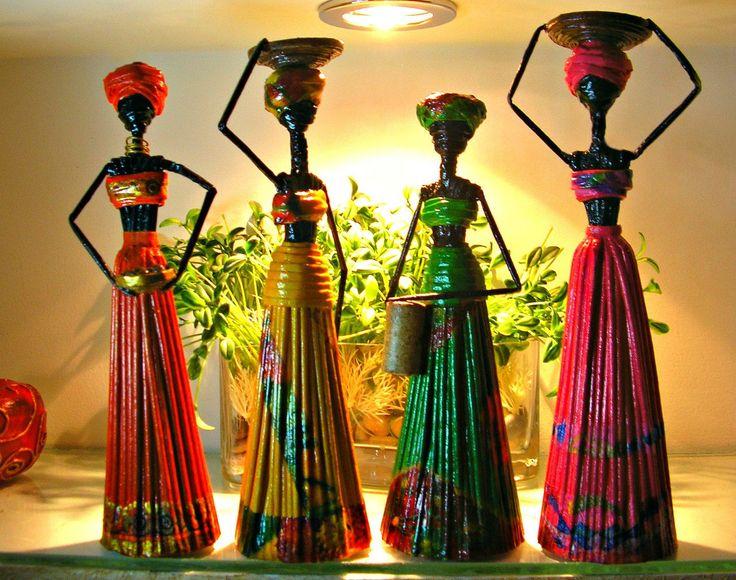 АФРИКАНКИ ИЗ ГАЗЕТ, МК - Уроки по плетению - Страна рукоделия